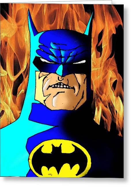 Salman Ravish Greeting Cards - Dark Knight Returns Greeting Card by Salman Ravish
