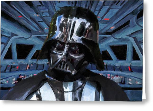 Armor Concept Greeting Cards - Dark Lord Of The Sith Greeting Card by Antony McAulay
