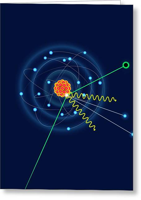 Dark Matter Colliding With An Argon Atom Greeting Card by David Parker