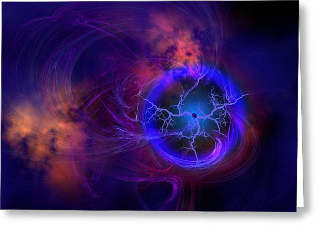 Interstellar Space Digital Art Greeting Cards - Dark Matter Greeting Card by Corey Ford