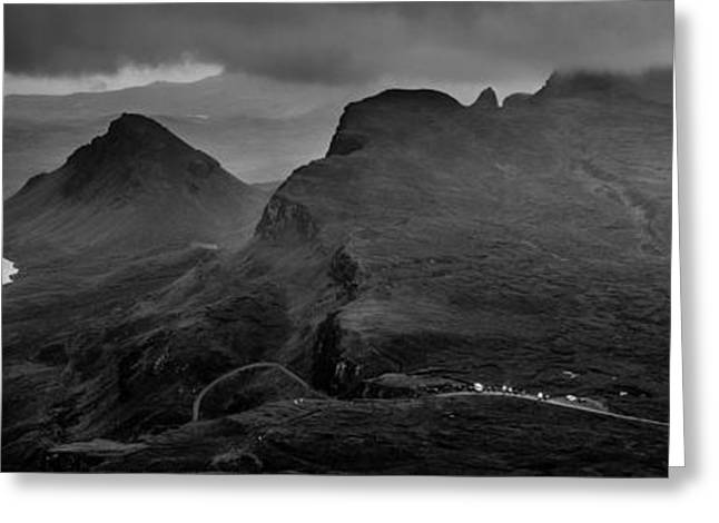 Dark Mountains Greeting Card by Yuri Fineart