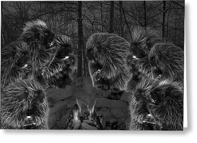 Dark Night Picky Eaters In The Moonlight Greeting Card by LeeAnn McLaneGoetz McLaneGoetzStudioLLCcom