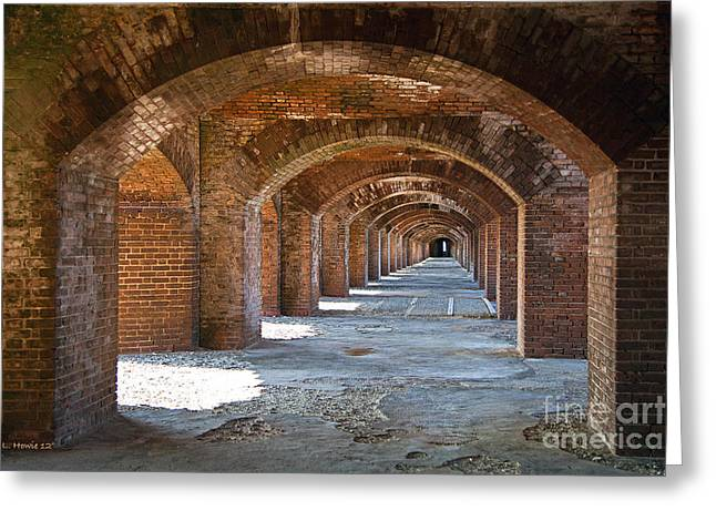 Dry Tortugas Greeting Cards - Dark Passage Greeting Card by Leanne Howie