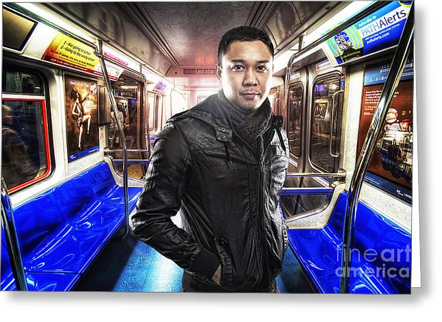 Filipino Arts Greeting Cards - Dark Passenger Greeting Card by Yhun Suarez