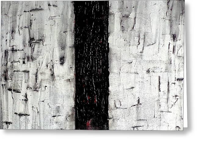 Pallet Knife Greeting Cards - Dark Path Greeting Card by Rob Van Heertum