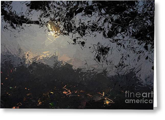Dark Rain Greeting Card by The Art of Alice Terrill