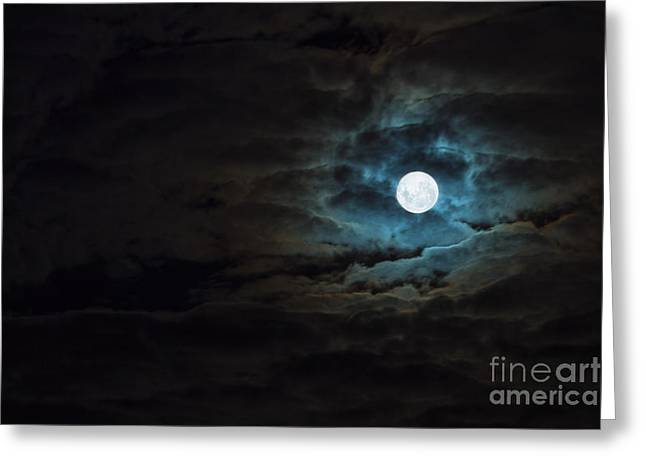 Wolf Moon Greeting Cards - Dark Rising Greeting Card by Andrew Paranavitana