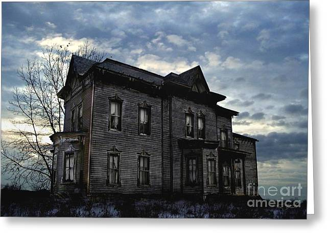 Haunted House Digital Art Greeting Cards - Dark Ruttle County Greeting Card by Tom Straub