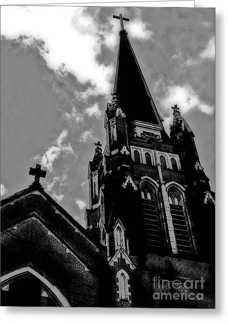 Rosary Greeting Cards - Dark Shadows Greeting Card by Chris Anderson