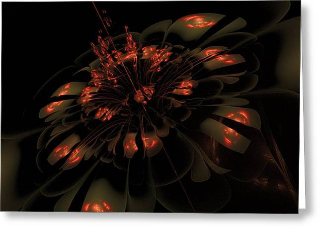 Karlajkitty Digital Art Greeting Cards - Dark Shimmer Greeting Card by Karla White