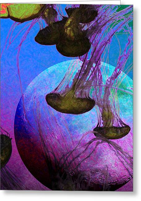 Medusa Digital Greeting Cards - Dark Side Of The Moon 5D24939 Painterly p88 Long Greeting Card by Wingsdomain Art and Photography
