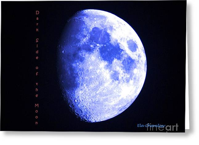 Chevalier Greeting Cards - Dark Side of the Moon Greeting Card by Elizabeth Chevalier