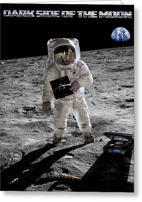 Footprint Greeting Cards - Dark Side Of The Moon Greeting Card by Peter Chilelli