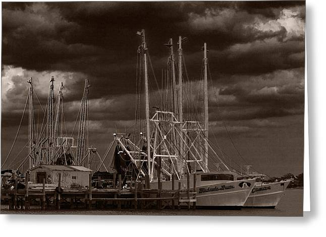 Jacksonville Greeting Cards - Dark Skies Greeting Card by Barry Jones