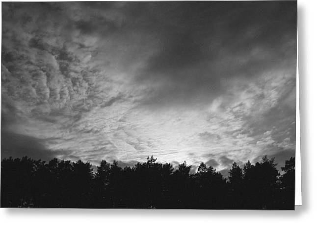 Mandal Greeting Cards - Dark Sky  Greeting Card by Ben Foster