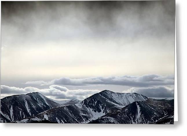 Dark Storm Cloud Mist  Greeting Card by Barbara Chichester