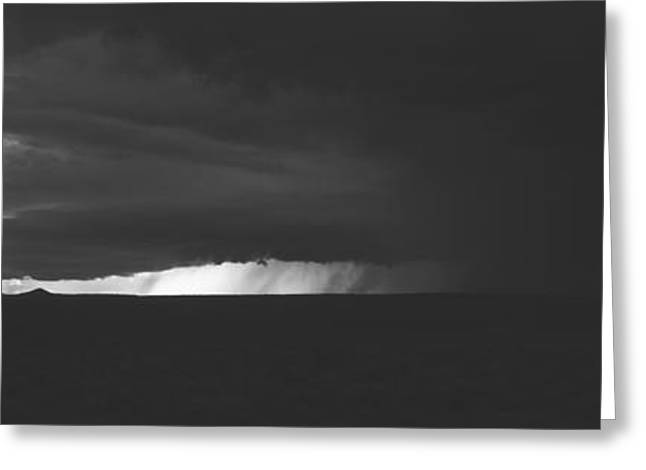 Overcast Day Greeting Cards - Dark Storm Clouds In The Sky, New Greeting Card by Panoramic Images