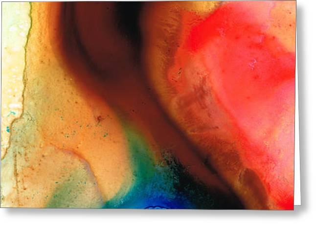 Dark Swan - Abstract Art By Sharon Cummings Greeting Card by Sharon Cummings