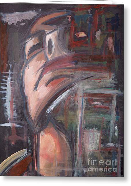 Absorb Paintings Greeting Cards - Dark Thoughts Greeting Card by Matthew  Wardell