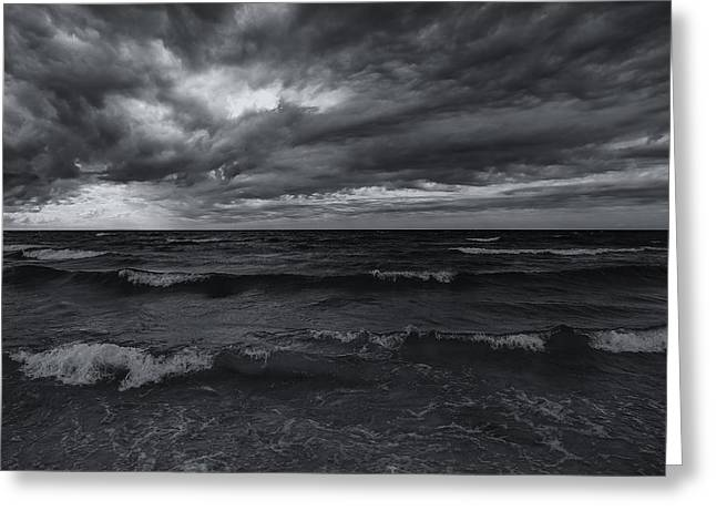 Turbulent Skies Greeting Cards - Dark Times Greeting Card by Rachel Cohen