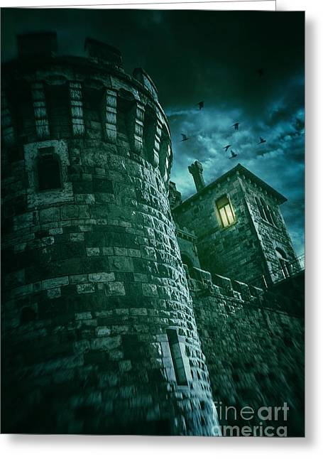 Dark Tower Greeting Card by Carlos Caetano