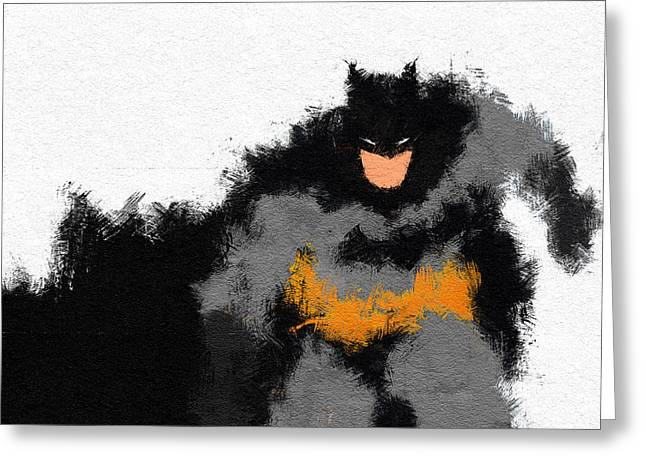 Character Portraits Greeting Cards - Dark Wayne Greeting Card by Miranda Sether