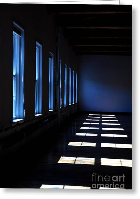 Dark Windowed Room Greeting Card by Diane Diederich