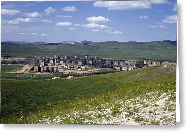 Cooperation Greeting Cards - Darkhan city, Mongolia Greeting Card by Science Photo Library