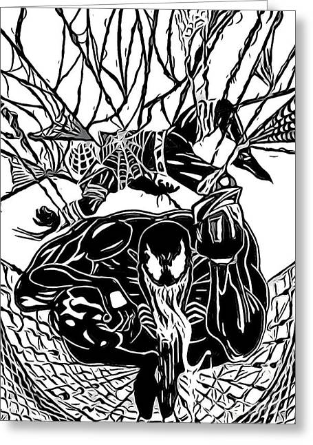 Justin Moore Digital Art Greeting Cards - Darkhawk Illustratrion Greeting Card by Justin Moore