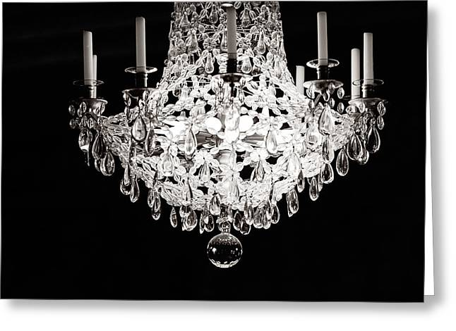 Chandelier Greeting Cards - Darkness and Light Greeting Card by Melanie Alexandra Price