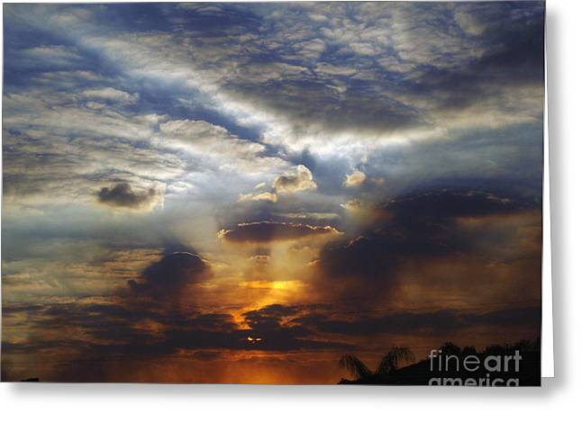 St. Lucie County Greeting Cards - Darkness Descends Greeting Card by Megan Dirsa-DuBois