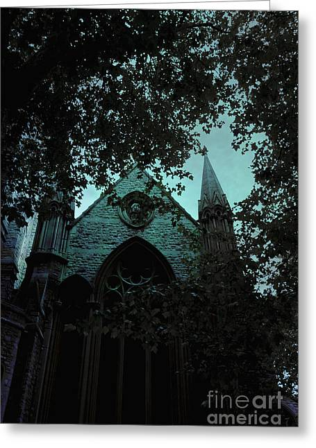 Darkness Looms Greeting Card by Margie Hurwich