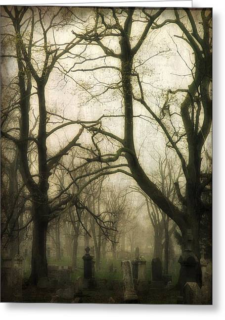 Thick Fog Greeting Cards - Darkness Of Fog Greeting Card by Gothicolors Donna Snyder
