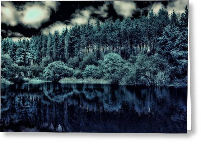 Atmospheric Greeting Cards - Darkness Greeting Card by Russ Dixon