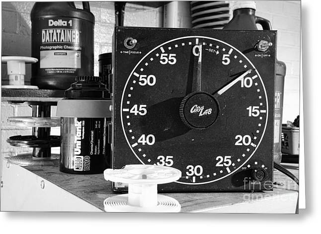 Finishing Greeting Cards - Darkroom Timer Greeting Card by Paul Ward