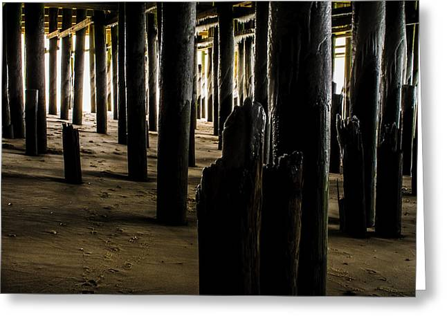Casino Pier Greeting Cards - Darkside of Casino Pier Greeting Card by Bill Terlecki