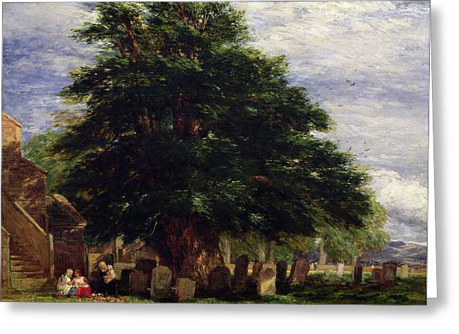 Headstones Greeting Cards - Darley Churchyard Greeting Card by David Cox