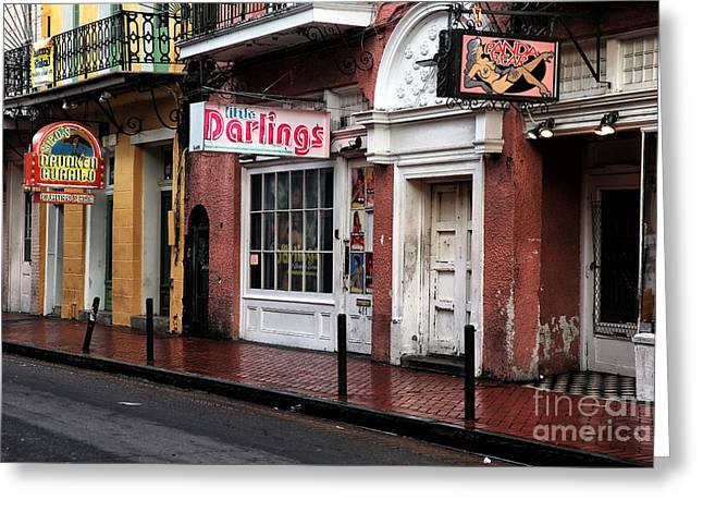 Rue Bourbon Greeting Cards - Darlings of New Orleans Greeting Card by John Rizzuto