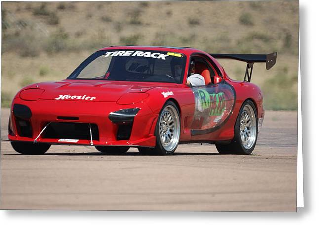 Recently Sold -  - Darren Greeting Cards - Darren Kidd RX7 2 Greeting Card by Ernie Echols