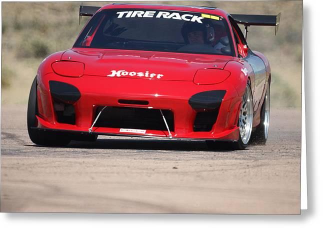 Mazda Greeting Cards - Darren Kidd RX7 Greeting Card by Ernie Echols