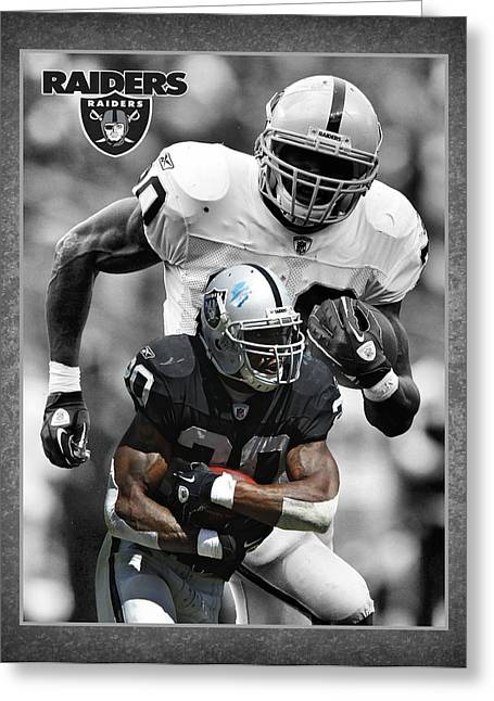Mcfaddens Greeting Cards - Darren Mcfadden Raiders Greeting Card by Joe Hamilton