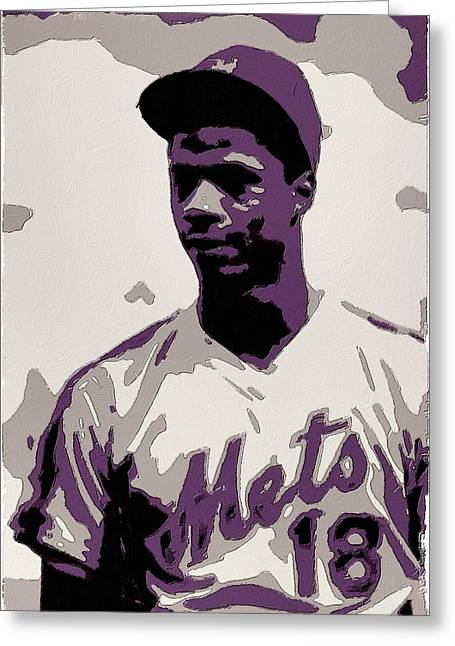 Baseball Greeting Cards - Darryl Strawberry Poster Art Greeting Card by Florian Rodarte
