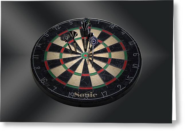 Dartboard Greeting Cards - Dart board Greeting Card by FL collection
