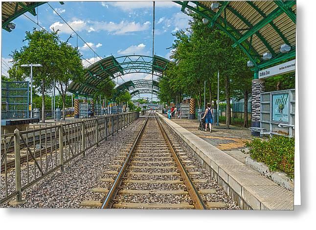Dart Stations Greeting Cards - Dart Rail Dallas Zoo HDR Greeting Card by Charles Beeler