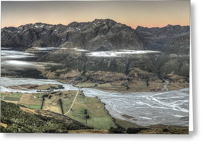 Hdr Landscape Greeting Cards - Dart River Valley And Humboldt Range Greeting Card by Colin Monteath