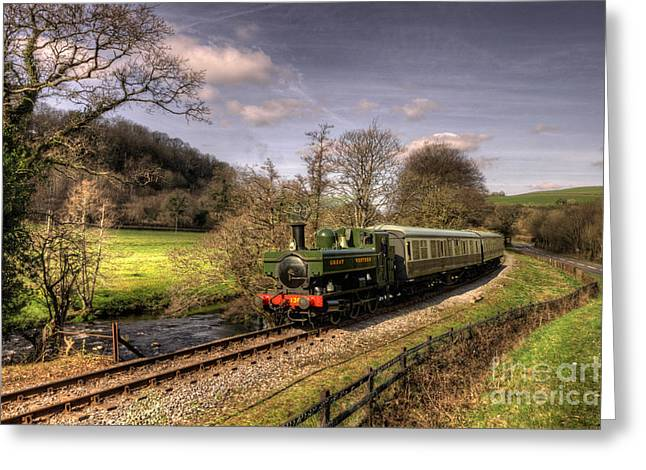 Pannier Greeting Cards - Dart Valley Pannier Greeting Card by Rob Hawkins