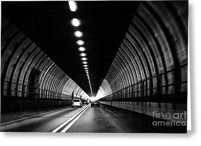 Light At The End Of The Tunnel Greeting Cards - Dartford Crossing Tunnel Greeting Card by Natalie Kinnear