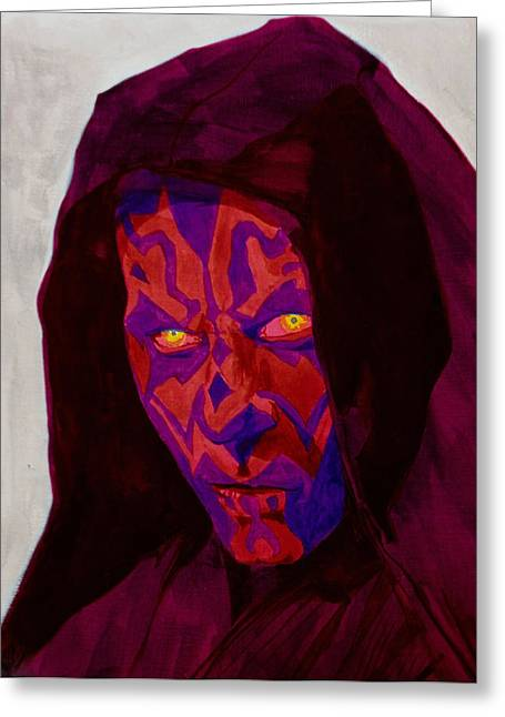 Kyle Willis Greeting Cards - Darth Maul Greeting Card by Kyle Willis