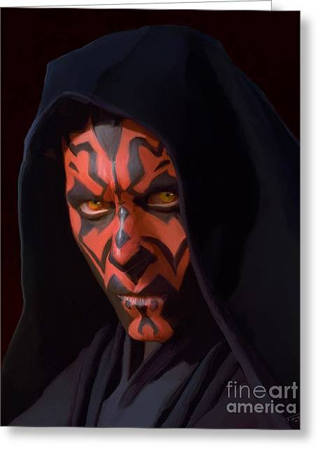 Darth Maul Greeting Card by Paul Tagliamonte