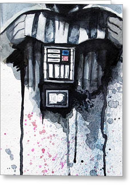 Star Greeting Cards - Darth Vader Greeting Card by David Kraig